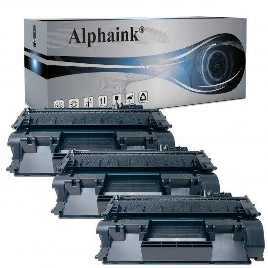 3 Toner Hp CF280XXL-CE505XXL Nero Compatibile