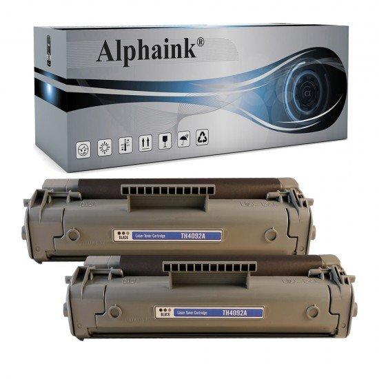 2 Toner HP C4092A Nero Compatibili