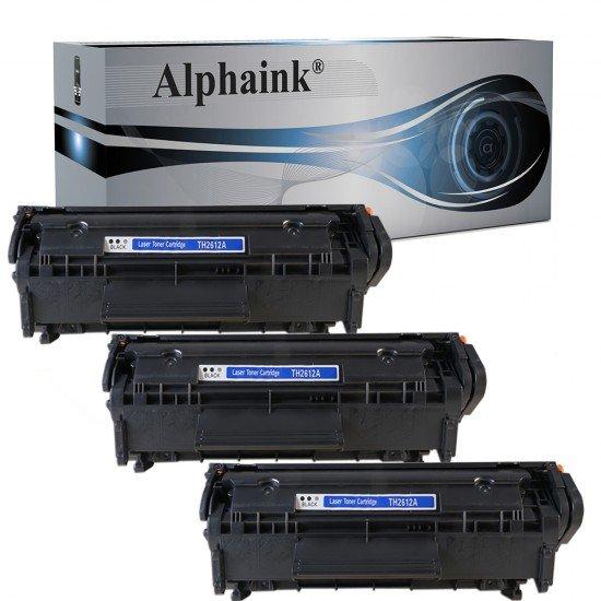 3 Toner HP Q2612A Nero Compatibili
