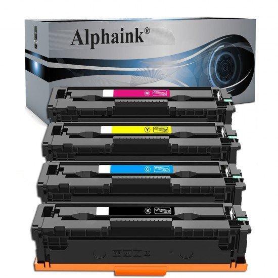 4 Toner HP CF410A-413A Nero + Colore Compatibili
