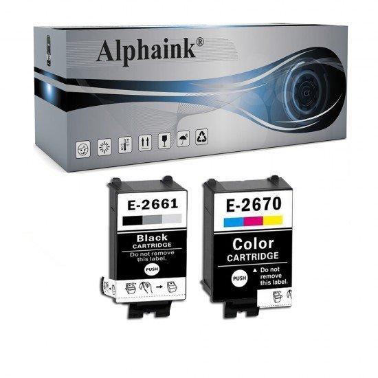 Cartuccia Epson T2661/T2670 Nera + Colore Compatibile