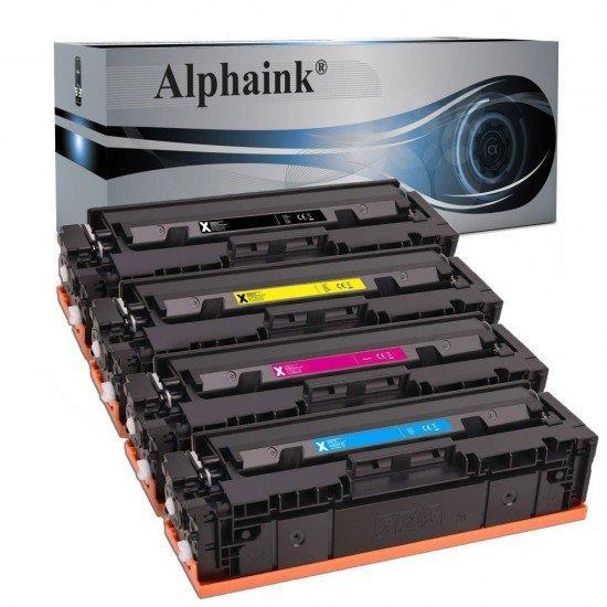 4 Toner HP W2030X-3X Nero + Colore NO CHIP Compatibile