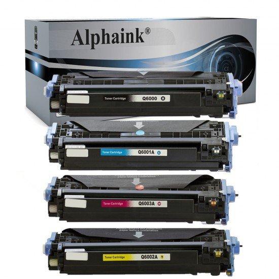 4 Toner HP Q6000A-01A-02A-03A Nero + Colore Compatibili