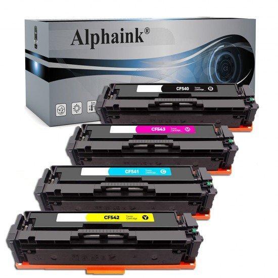4 Toner HP CF540-3A Nero + Colore Compatibili