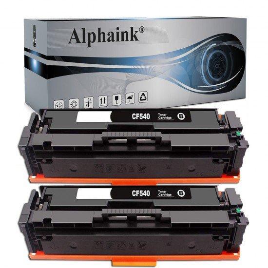 2 Toner HP CF540X Nero Compatibile
