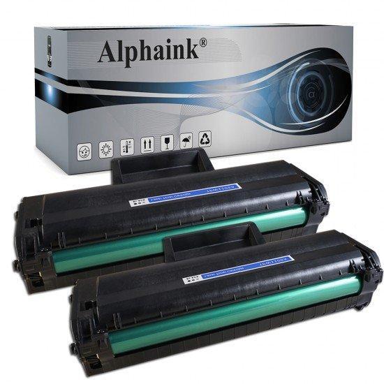 2 Toner HP W1106A Nero  CON CHIP Compatibile