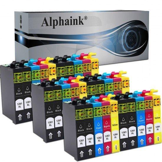 30 Cartucce Epson T1285 Nero e Colore Compatibili