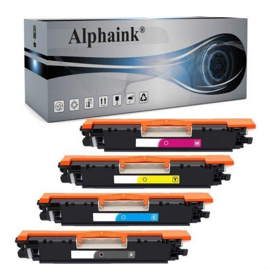 4 Toner HP Laserjet CE310/CF350 Nero + Colore Compatibile