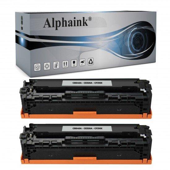 2 Toner HP CB540A-CE320A-CF210X Nero Rigenerato
