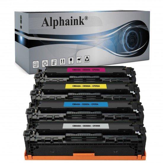 4 Toner HP CB540A-CE320-CF210X Nero + Colore Rigenerato