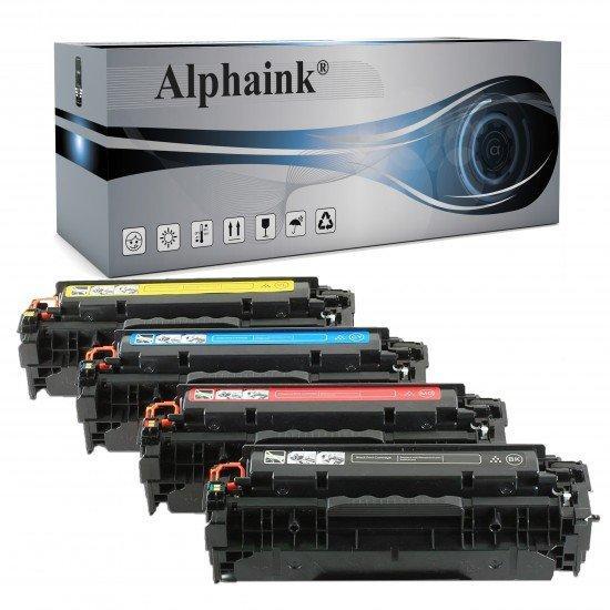 4 Toner HP CC530A-CE410X-CF380X Nero + Colore Rigenerato