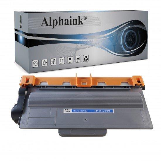 Toner per Brother TN-3380 Nero prodotto Alphaink Compatibile