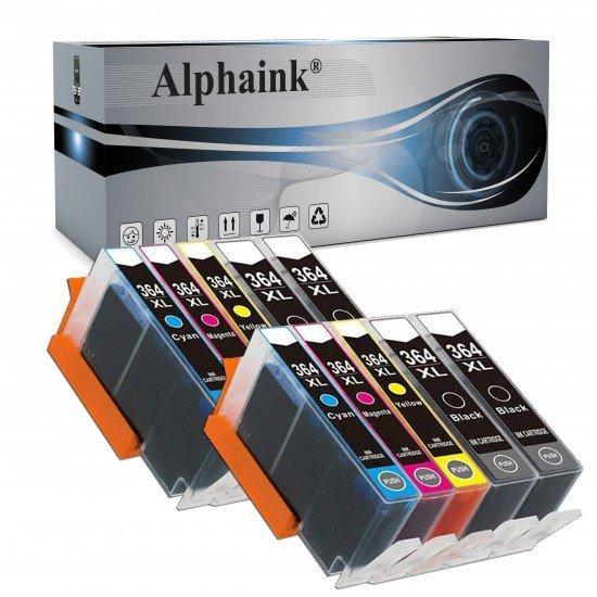 10 Cartucce HP10-364  NO CHIP Compatibili