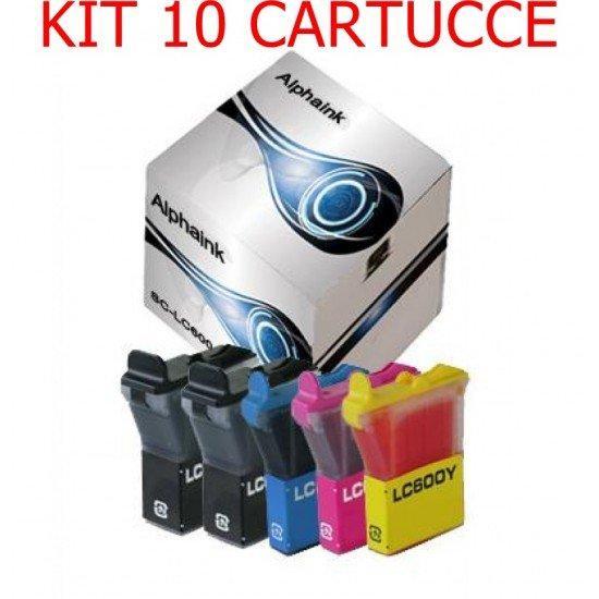 10 Cartucce Brother LC21-600 Nero + Colore Compatibili